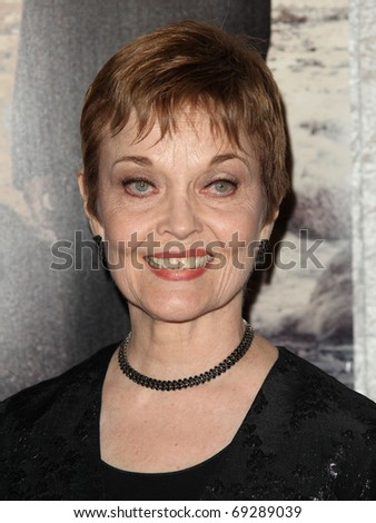 "LOS ANGELES - JAN 12:  Grace Zabriskie arrives to Season 5 premiere of ""Big Love""  on January 12, 2011 in Hollywood, CA"