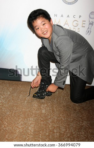 LOS ANGELES - JAN 23:  Hudson Yang at the 47th NAACP Image Awards Nominees Luncheon at the Beverly Hilton Hotel on January 23, 2016 in Beverly Hills, CA - stock photo