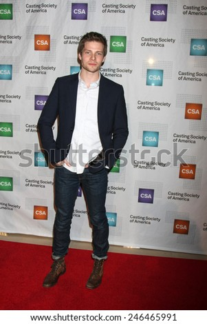 LOS ANGELES - JAN 22:  Hunter Parrish at the American Casting Society presents 30th Artios Awards at a Beverly Hilton Hotel on January 22, 2015 in Beverly Hills, CA - stock photo