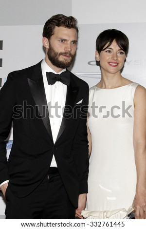 LOS ANGELES - JAN 11:  Jamie Dornan, Amelia Warner at the NBC Post Golden Globes Party at a Beverly Hilton on January 11, 2015 in Beverly Hills, CA - stock photo