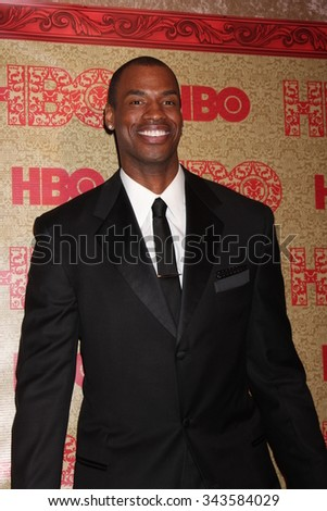 LOS ANGELES - JAN 12:  Jason Collins at the HBO 2014 Golden Globe Party at the Beverly Hilton Hotel on January 12, 2014 in Beverly Hills, CA - stock photo