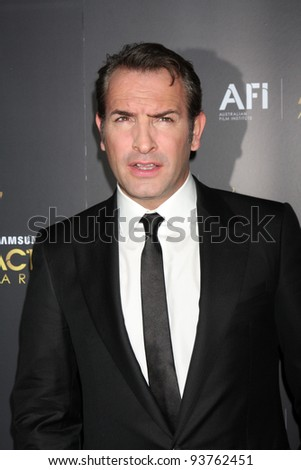 LOS ANGELES - JAN 27:  Jean Dujardin arrives at the AUSTRALIAN ACADEMY INTERNATIONAL AWARDS at Soho House on January 27, 2012 in West Hollywood, CA