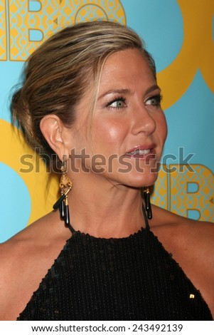 LOS ANGELES - JAN 11:  Jennifer Aniston at the HBO Post Golden Globe Party at a Circa 55, Beverly Hilton Hotel on January 11, 2015 in Beverly Hills, CA - stock photo