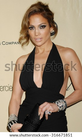 LOS ANGELES - JAN 13 - Jennifer Lopez arrives at the 2013 Weinstein Company Golden Globes After Party  on January 13, 2013 in Beverly Hills, CA              - stock photo