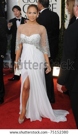LOS ANGELES - JAN 16:  Jennifer Lopez arrives to the 68th Annual Golden Globe Awards  on January 16, 2011 in Beverly Hills, CA - stock photo
