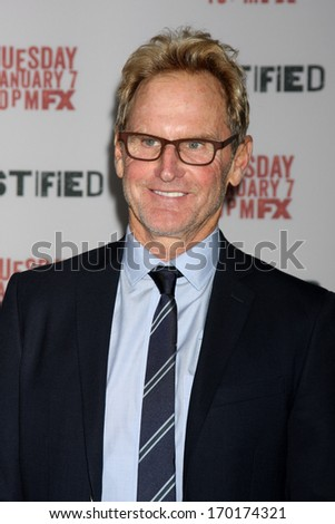 "LOS ANGELES - JAN 6:  Jere Burns at the ""Justified"" Premiere Screening at Directors Guild of America on January 6, 2014 in Los Angeles, CA"