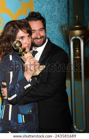 LOS ANGELES - JAN 11:  Jill Soloway, ?Jay Duplass at the HBO Post Golden Globe Party at a Circa 55, Beverly Hilton Hotel on January 11, 2015 in Beverly Hills, CA