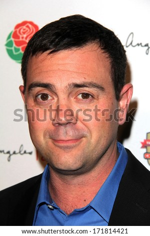 LOS ANGELES - JAN 5:  Joe Lo Truglio at the BCS National Championship Party at Pasadena Convention Center on January 5, 2014 in Pasadena, CA - stock photo