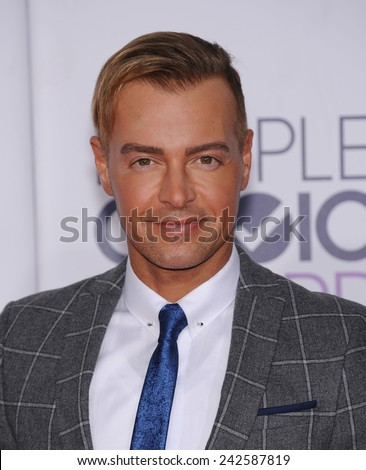 LOS ANGELES - JAN 07:  Joey Lawrence arrives to the People's Choice Awards 2014  on January 7, 2015 in Los Angeles, CA                 - stock photo