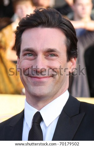 LOS ANGELES - JAN 30:  Jon Hamm arrives at the 2011 Screen Actors Guild Awards  at Shrine Auditorium on January 30, 2011 in Los Angeles, CA