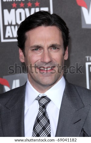 LOS ANGELES - JAN 14: Jon Hamm arrives at the 16th Annual Critics' Choice Movie Awards at the Hollywood Palladium on January 14, 2011 in Los Angeles, CA