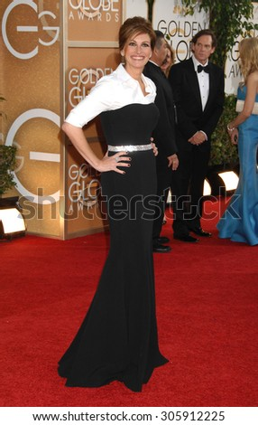 LOS ANGELES - JAN 12:  Julia Roberts arrives to the 2014 Golden Globe Awards  on January 12, 2014 in Beverly Hills, CA                 - stock photo