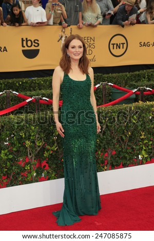 LOS ANGELES - JAN 25:  Julianne Moore at the 2015 Screen Actor Guild Awards at the Shrine Auditorium on January 25, 2015 in Los Angeles, CA - stock photo