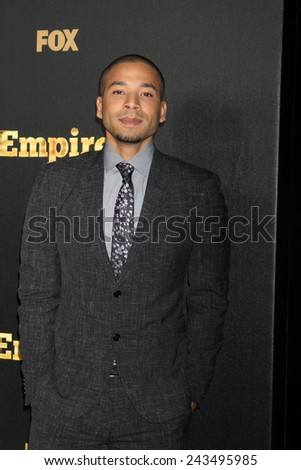 "LOS ANGELES - JAN 6:  Jusse Smollett at the FOX TV ""Empire"" Premiere Event at a ArcLight Cinerama Dome Theater on January 6, 2014 in Los Angeles, CA - stock photo"