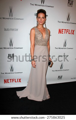LOS ANGELES - JAN 11:  Kate Beckinsale at the The Weinstein Company / Netflix Golden Globes After Party at a Beverly Hilton Adjacent on January 11, 2015 in Beverly Hills, CA - stock photo