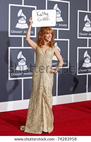 LOS ANGELES - JAN 31:  Kathy Griffin arrives at the 52nd Annual GRAMMY Awards held at Staples Center in Los Angeles, California on January 31, 2010.