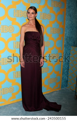 LOS ANGELES - JAN 11:  Katie Holmes at the HBO Post Golden Globe Party at a Circa 55, Beverly Hilton Hotel on January 11, 2015 in Beverly Hills, CA - stock photo