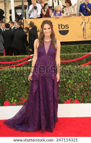LOS ANGELES - JAN 25:  Keira Knightley at the 2015 Screen Actor Guild Awards at the Shrine Auditorium on January 25, 2015 in Los Angeles, CA - stock photo