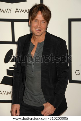 LOS ANGELES - JAN 26:  Keith Urban arrives at the 56th Annual Grammy Awards Arrivals  on January 26, 2014 in Los Angeles, CA                 - stock photo