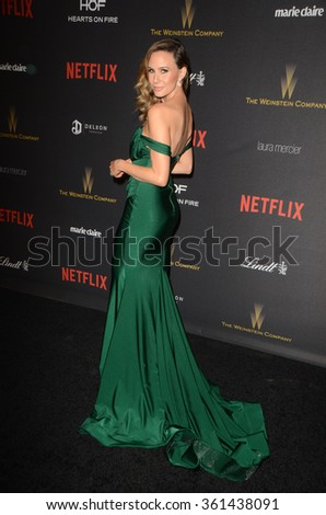 LOS ANGELES - JAN 10:  Keltie Knight at the Weinstein Company & Netflix 2016 Golden Globe After Party at the Beverly Hilton on January 10, 2016 in Beverly Hills, CA - stock photo