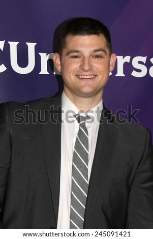 LOS ANGELES - JAN 15:  Kevin Bigley at the NBCUniversal Cable TCA Winter 2015 at a The Langham Huntington Hotel on January 15, 2015 in Pasadena, CA - stock photo