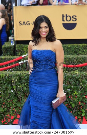 LOS ANGELES - JAN 25:  Laura Gomez at the 2015 Screen Actor Guild Awards at the Shrine Auditorium on January 25, 2015 in Los Angeles, CA - stock photo