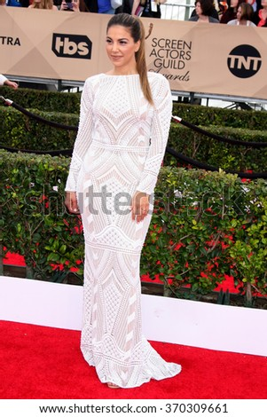 LOS ANGELES - JAN 30:  Liz Hernandez at the 22nd Screen Actors Guild Awards at the Shrine Auditorium on January 30, 2016 in Los Angeles, CA - stock photo