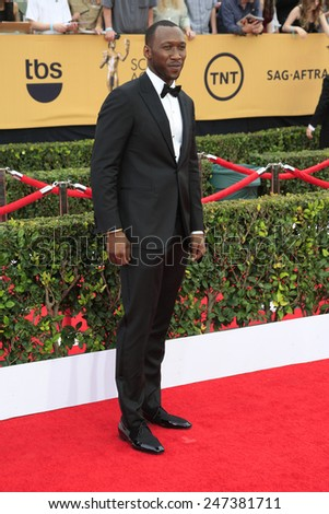 LOS ANGELES - JAN 25:  Mahershala Ali at the 2015 Screen Actor Guild Awards at the Shrine Auditorium on January 25, 2015 in Los Angeles, CA - stock photo