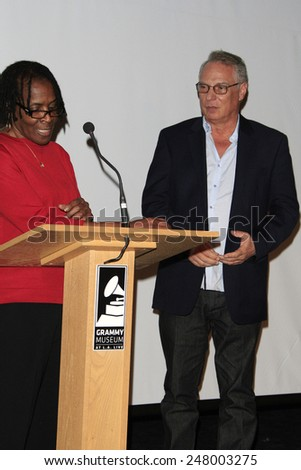 LOS ANGELES - JAN 28: Marcia Thomas, Richard Walden at the 30th Anniversary of 'We Are The World' at The GRAMMY Museum on January 28, 2015 in Los Angeles, California - stock photo