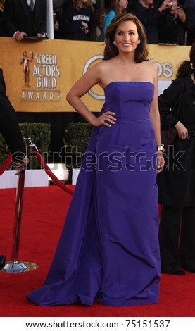 LOS ANGELES - JAN 30:  Mariska Hargitay arrives at the the SAG Awards 2011 on January 30, 2011 in Los Angeles, CA - stock photo