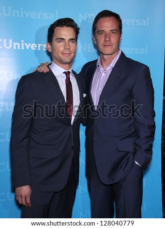 LOS ANGELES - JAN 06:  MATT BOMER & TIM DeKAY arriving to TCA Winter Press Tour 2012: NBC Party  on January 06, 2012 in Pasadena, CA