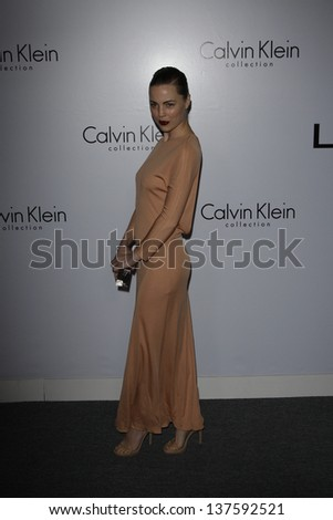 LOS ANGELES - JAN 28: Melissa George at the Calvin Klein Collection & LA Nomadic Division 1st Annual Celebration For L.A. Arts Monthly + Art LA Contemporary on January 28, 2010 in Los Angeles, CA - stock photo