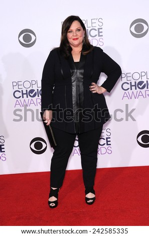 LOS ANGELES - JAN 07:  Melissa McCarthy arrives to the People's Choice Awards 2014  on January 7, 2015 in Los Angeles, CA                 - stock photo