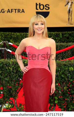 LOS ANGELES - JAN 25:  Melissa Rauch at the 2015 Screen Actor Guild Awards at the Shrine Auditorium on January 25, 2015 in Los Angeles, CA - stock photo