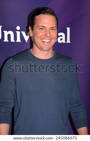 LOS ANGELES - JAN 15:  Michael Mosley at the NBCUniversal Cable TCA Winter 2015 at a The Langham Huntington Hotel on January 15, 2015 in Pasadena, CA - stock photo