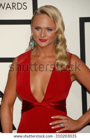 LOS ANGELES - JAN 26:  Miranda Lambert arrives at the 56th Annual Grammy Awards Arrivals  on January 26, 2014 in Los Angeles, CA                 - stock photo