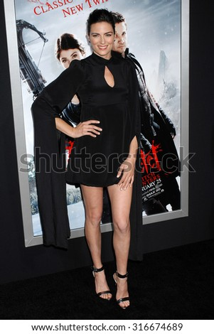 LOS ANGELES - JAN 24 - Monique Ganderton arrives at the Hansel and Gretel Witch Hunters Los Angeles Premiere on January 24, 2013 in Hollywood, CA              - stock photo