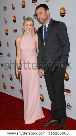 LOS ANGELES - JAN 12 - Naomi Watts and Liev Schreiber arrives at the 2013 GDay USA Los Angeles Black Tie Gala  on January 12, 2013 in Los Angeles, CA              - stock photo