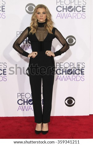 LOS ANGELES - JAN 6:  Natalie Dormer at the Peoples Choice Awards 2016 - Arrivals at the Microsoft Theatre L.A. Live on January 6, 2016 in Los Angeles, CA - stock photo