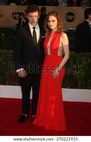 LOS ANGELES - JAN 30:  Nolan Gould, Kerris Dorsey at the 22nd Screen Actors Guild Awards at the Shrine Auditorium on January 30, 2016 in Los Angeles, CA - stock photo