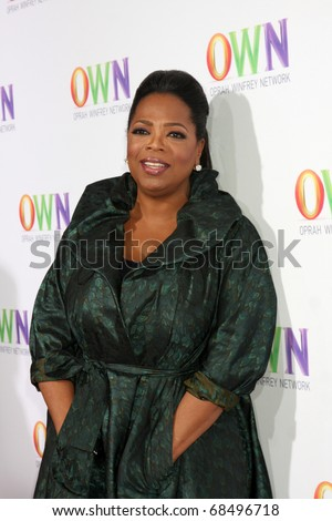 LOS ANGELES - JAN 6:  Oprah Winfrey arrives at the Oprah Winfrey Network Winter 2011 TCA Party at The Langham Huntington Hotel on January 6, 2011 in Pasadena, CA. - stock photo