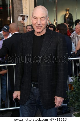 "LOS ANGELES - JAN 23:  Patrick Stewart arrives at the ""Gnomeo & Juliet"" World Premiere on January 23, 2011 in Los Angeles, CA"