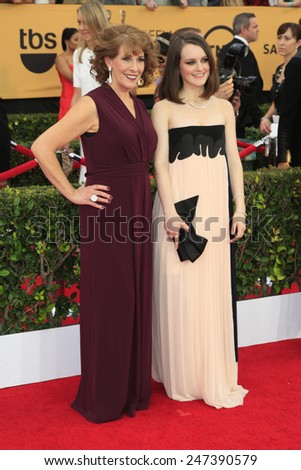 LOS ANGELES - JAN 25:  Phyllis Logan, Sophie McShera at the 2015 Screen Actor Guild Awards at the Shrine Auditorium on January 25, 2015 in Los Angeles, CA - stock photo