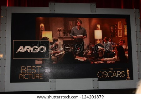 LOS ANGELES - JAN 10:  Picture Nomination - Argo at the 2013 Academy Award nomination announcements at Samuel Goldwyn Theater on January 10, 2013 in Beverly Hills, CA - stock photo