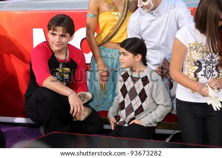 LOS ANGELES - JAN 26:  Prince Michael Jackson, Blanket Jackson at the Michael Jackson Immortalized  Handprint and Footprint Ceremony at Graumans Chinese Theater on January 26, 2012 in Los Angeles, CA - stock photo