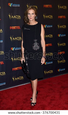 LOS ANGELES - JAN 29 - Rachel Griffiths  arrives at the 5th AACTA International Awards on January 29, 2016 in Hollywood, CA              - stock photo