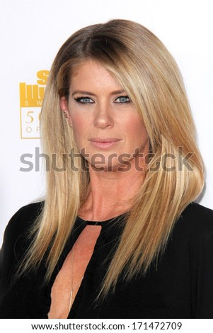 LOS ANGELES - JAN 14:  Rachel Hunter at the 50th Anniversary Of Sports Illustrated Swimsuit Issue at Dolby Theater on January 14, 2014 in Los Angeles, CA - stock photo