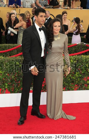 LOS ANGELES - JAN 25:  Raza Jaffrey, Lara Pulver at the 2015 Screen Actor Guild Awards at the Shrine Auditorium on January 25, 2015 in Los Angeles, CA - stock photo