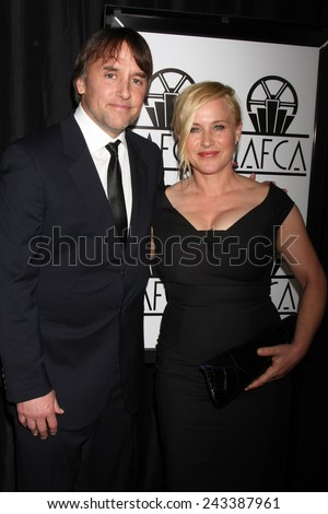 LOS ANGELES - JAN 10:  Richard Linklater, Patricia Arquette at the 40th Annual Los Angeles Film Critics Association Awards at a Intercontinental Century City on January 10, 2015 in Century City, CA - stock photo