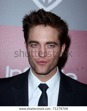 LOS ANGELES - JAN 16:  Robert Pattinson arrives at the 12th Annual WB-In Style Golden Globe After Party on January 16, 2011 in Beverly Hills, CA - stock photo